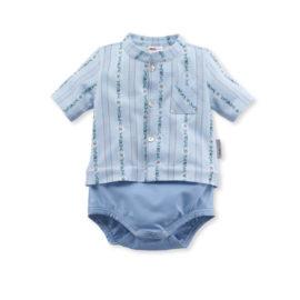 baby body edelweiss hellblau isa bodywear