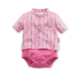 baby body edelweiss rosa isa bodywear
