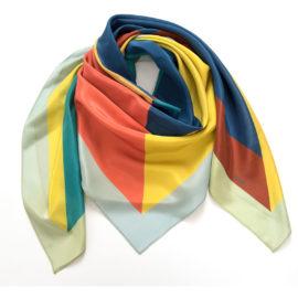 foulard carre maxi juxtapose water chili silk mood souze