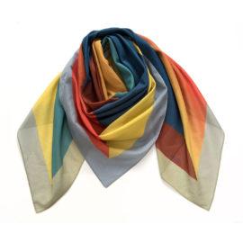 foulard carre maxi juxtapose water chili cotton mood souze