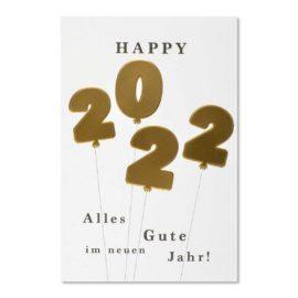 neujahrskarte happy newyear 2022 abc