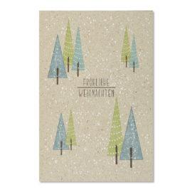 weihnachten blau gruene tannenbaueme abc